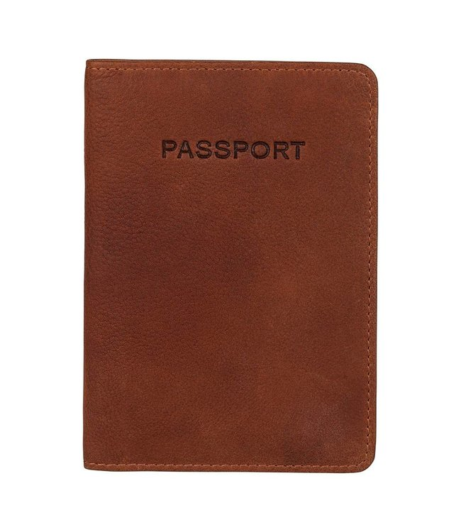 Burkely Antique Avery paspoort etui cognac