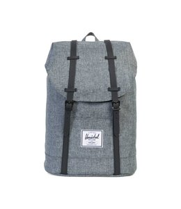 Herschel Retreat rugtas raven crosshatch black