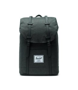 Herschel Retreat black crosshatch / black rubber