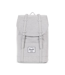 Herschel Retreat light grey crosshatch / grey rubber