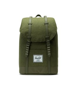 Herschel Retreat olive night  crosshatch