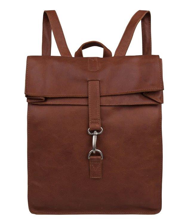 """Cowboysbag Doral Hooked backpack 15"""" cognac"""