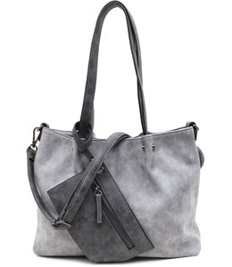 Emily & Noah 299 Bag in Bag grey-dark grey