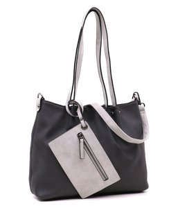 Emily & Noah 299 Bag in Bag zwart-light grey