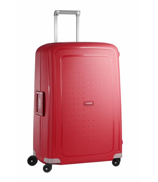 Samsonite SCure Spinner 75 crimson red-4 wiel reiskoffer