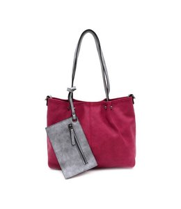 Emily & Noah 299 Bag in Bag red grey