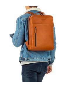 "Burkely Rain Riley backpack 15,6"" cognac"