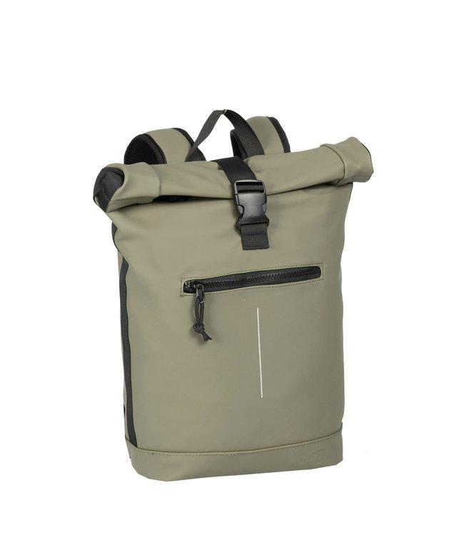 New Rebels Mart Rol waterproof rolltop backpack taupe