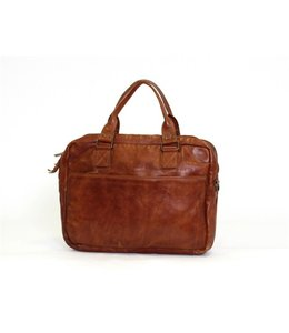 "Bear Design Enzo 15.6"" leren laptoptas cognac"
