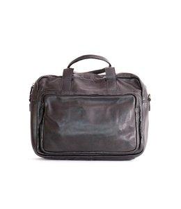 """Bear Design Paolo  leren tas met 15"""" laptopvak zwart"""