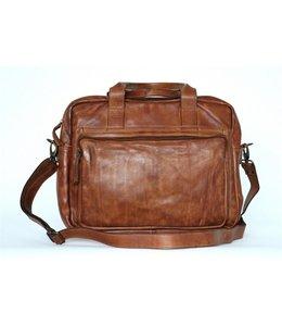 "Bear Design Paolo leren tas met 15"" laptopvak cognac"
