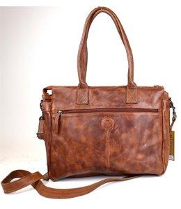 Bear Design Callisto Pelle Binni dames laptoptas cognac