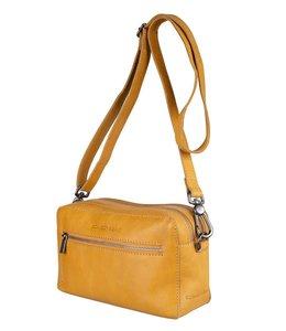 Cowboysbag Sandy leren schoudertas amber