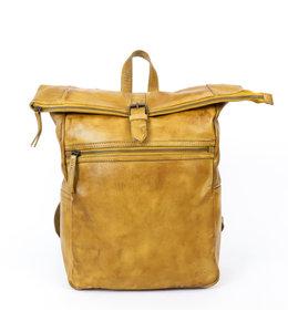 "Bear Design Rick leren 13"" laptoprugzak geel"