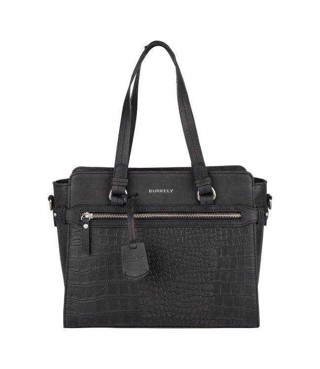 Burkely Croco Cody handbag s zwart