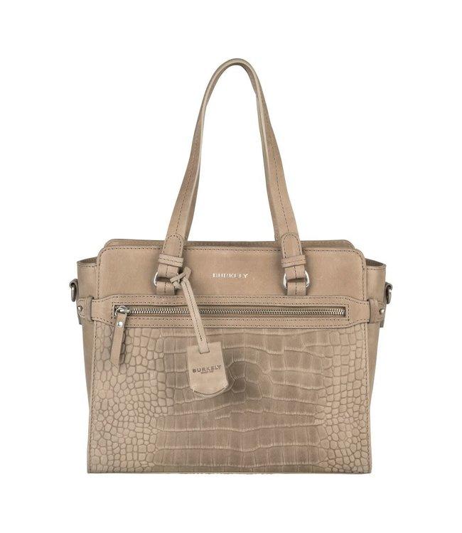 Burkely Croco Cody handbag s dark grey