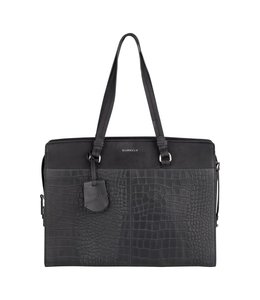 Burkely Croco Cody workbag zwart