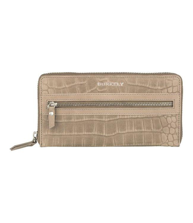 Burkely Croco Cody wallet L dark grey