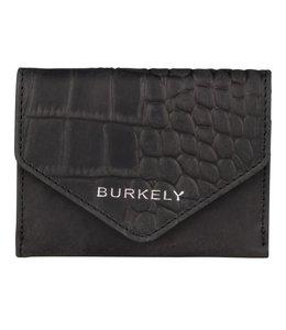 Burkely Croco Cody wallet S zwart