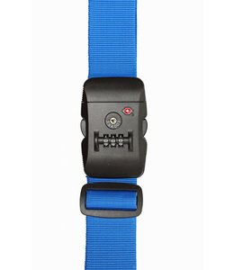 Line Travel Accessories  TSA Lock 3-Dial Luggage Strap blue