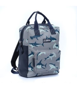 Zebra Trends Rugzak boys L wild shark blue