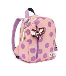 Zebra Trends Rugzak S glitter dots pink purple