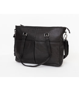 BAG2BAG kelsey leren laptop shopper black