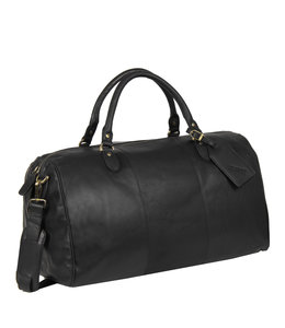 Justified Bags Max duffel leren reistas black