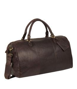 Justified Bags Max duffel leren reistas bruin