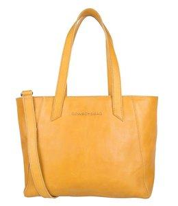 Cowboysbag Slanted bag jenner leren shopper amber