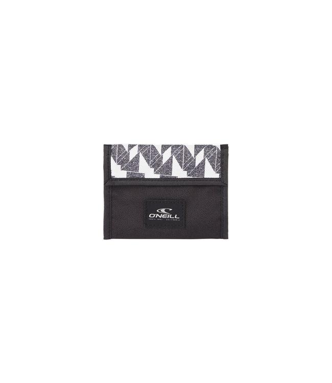 O'Neill Pocketbook wallet white AOP w/black