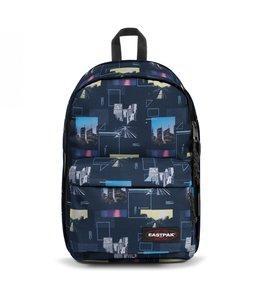 """Eastpak Back to Work 15.6"""" laptop-rugzak shapes blue"""