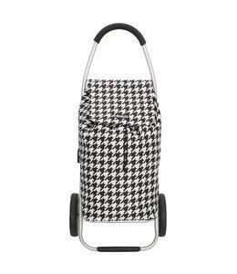 Beagles boodschappentrolley-winkelkarhaak zwart wit