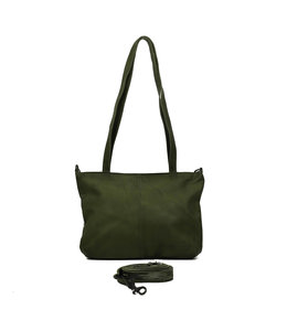 Bear Design leren shopper groen