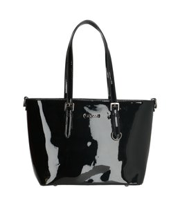 Charm London Notting Hill shopper zwart lack