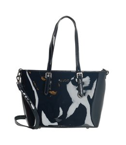 Charm London Notting Hill shopper blauw lack
