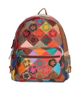 Magic Bag Sissi leren rugtasje multi