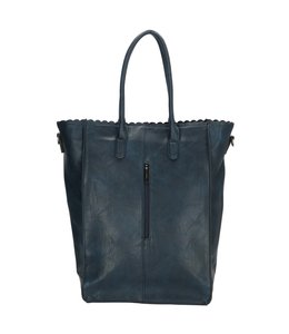 "Charm London Paddington 14"" shopper blauw"