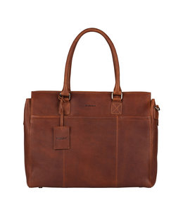 "Burkely 15.6"" womens workingbag cognac"