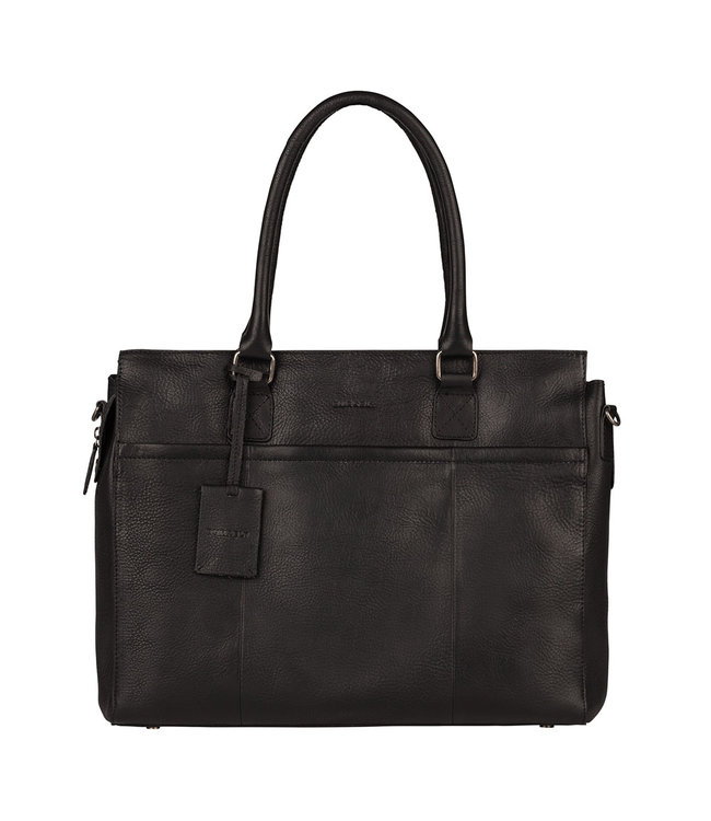 "Burkely 15.6"" womens workingbag black"