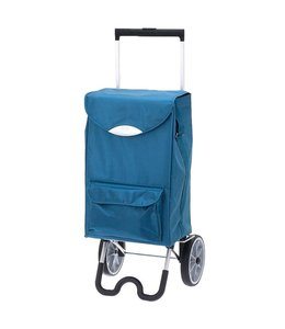 Secc Stockholm Boodschappen-trolley turquoise