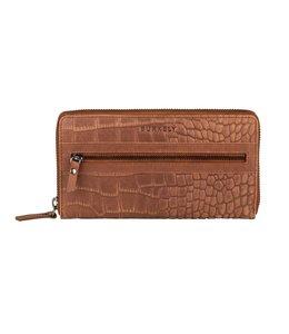 Burkely Croco Cody wallet L cognac