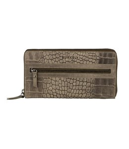 Burkely Croco Cody wallet L dark green