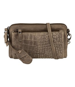 Burkely Croco Cody mini-bag dark green