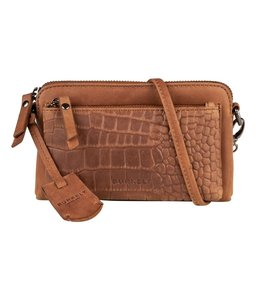Burkely Croco Cody mini-bag cognac