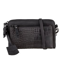 Burkely Croco Cody mini-bag zwart