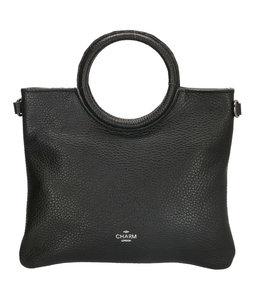 Charm hand-/schoudertasje zwart
