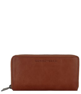 Cowboysbag Raw purse Lara cognac