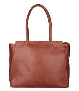 Cowboysbag Raw Laptop Bag Evi 15.6 inch cognac