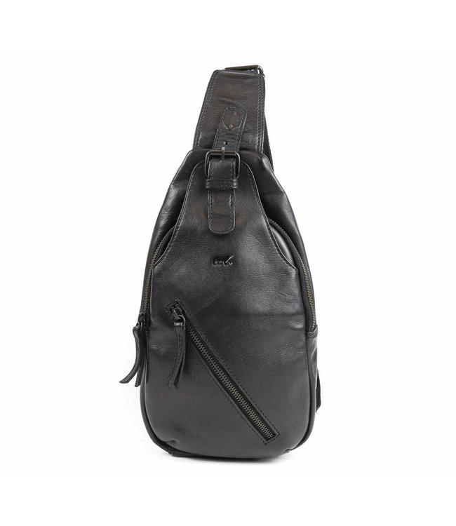 Bear Design Daley leren Cross-over tas zwart